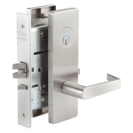 Electric Mortise Lock MR Escutcheon, Ser  MR, Grd  1, Storeroom