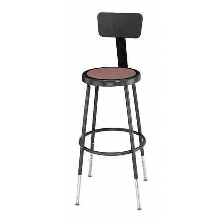 Brilliant Round Stool With Backrest Height 25 To 33Black Machost Co Dining Chair Design Ideas Machostcouk