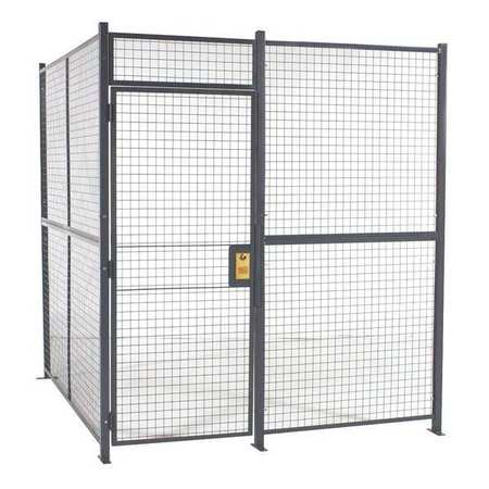 Wirecrafters Woven Wire Partition, 4 Sided, hinged door 12124