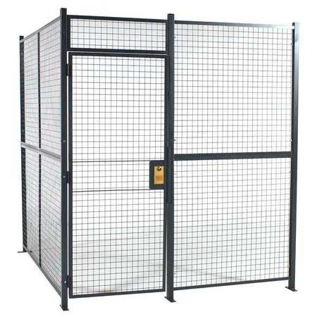 Wirecrafters Welded Wire Partition, 4 sided, hinge door 12124RW