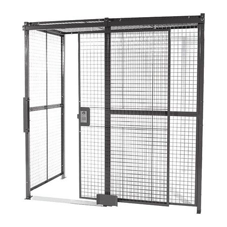 Wirecrafters Welded Wire Partition, 2 sided, Slide Door 10102RW