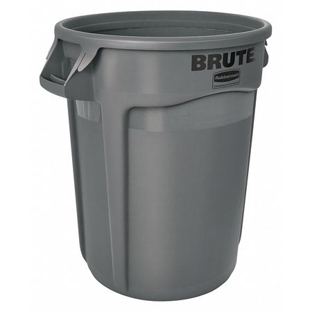 Brute 32 gal. Gray Polyethylene Round Utility Container
