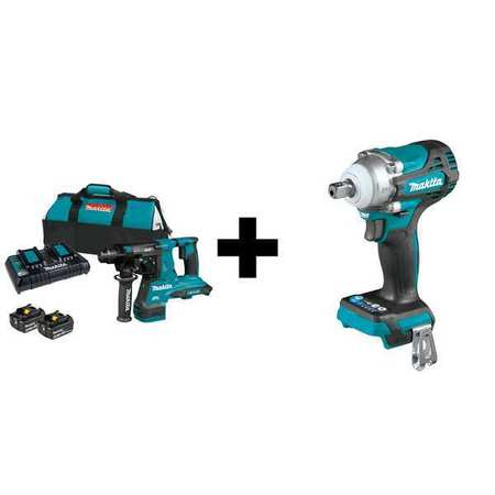 Makita Cordless Rotary Hammer, Battery Included XRH08PT/XWT15Z