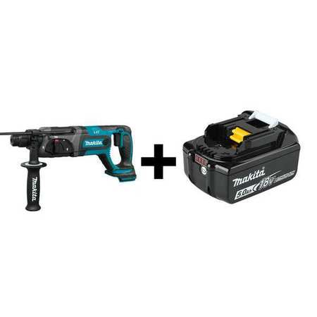 Makita Cordless Rotary Hammer, Battery Included XRH04Z/BL1850B