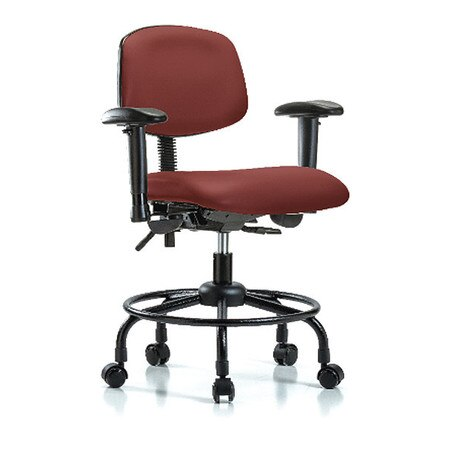 Surprising Vinyl Desk Chair Round Tube Base Tilt Arms Casters Bordeaux Ocoug Best Dining Table And Chair Ideas Images Ocougorg