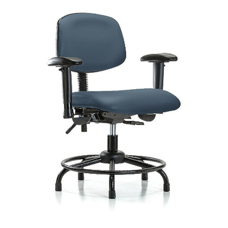 Pleasing Vinyl Desk Chair Round Tube Base Arms Glides Blueridge Ocoug Best Dining Table And Chair Ideas Images Ocougorg