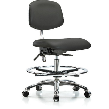 Fine Vinyl Clean Room Chair Med Bench Tilt Foot Ring Casters Charcoal Dailytribune Chair Design For Home Dailytribuneorg