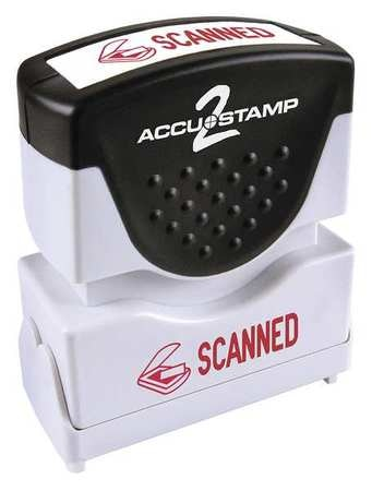 Accustamp 2 Message Stamp, Scanned, Red, 36 038932