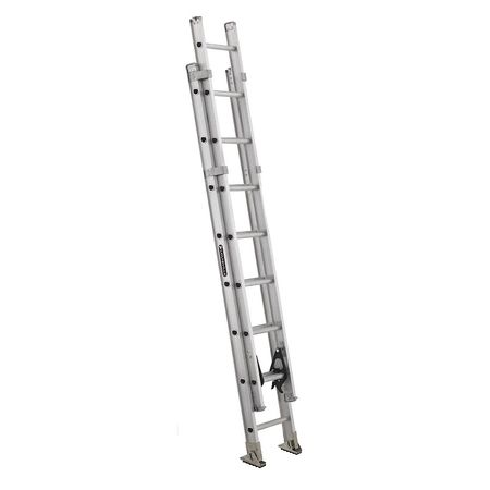 Louisville 16 ft Aluminum Extension Ladder,  375 lb Load Capacity AE1216HD