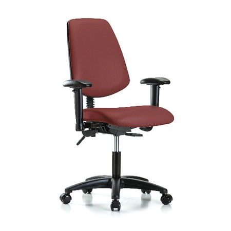 Incredible Vinyl Desk Chair Med Back Tilt Arms Casters Bordeaux Ocoug Best Dining Table And Chair Ideas Images Ocougorg
