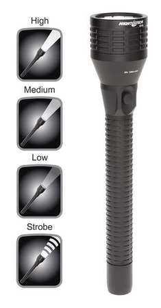 Nightstick Ind Rechargeable Flashlight, LED, Black NSR-9746XL