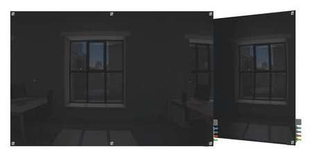 """Ghent 48""""x96"""" Magnetic Glass Dry Erase Board,  Wall Mounted,  Black HMYSM48BK"""