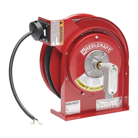 Reelcraft 45 ft. 12/3 Power Cord Reel 20 Amps 0 Outlets 125V Voltage L 4545 123 X