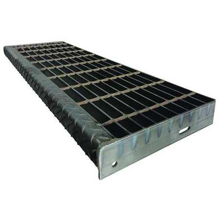 Zoro Select Bar Grating, Smooth, 12.13in.W x 1.25in.H 21188S125-TRD5