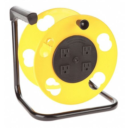 Bayco Retractable Cord Reel 100 ft. Capacity 4-Outlet SL-2000PDQ