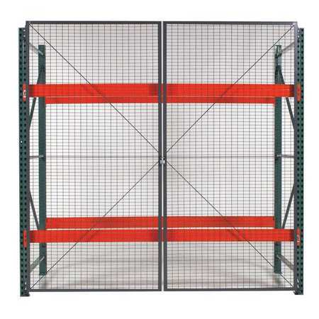 Wirecrafters Pal Rack Dble Hinged DR, 144inW, 2in BaseD RDH1212