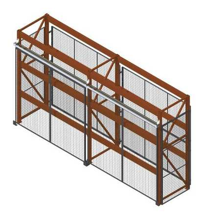 Wirecrafters Pallet Rack Encl, 2 Bay, 120inW, 42in BaseD RE10842SD2
