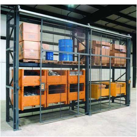 Wirecrafters Pallet Rack Encl, 5 Bay, 120inW, 36in BaseD RE10836SD5