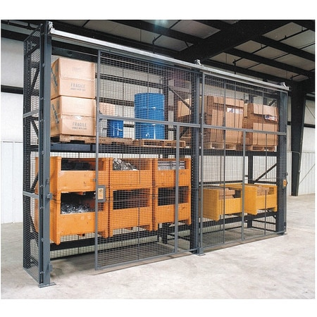Wirecrafters Pallet Rack Encl, 5 Bay, 144inW, 36in BaseD RE121236SD5