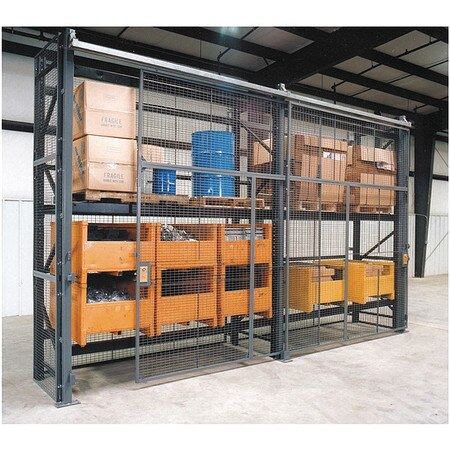 Wirecrafters Pallet Rack Encl, 5 Bay, 108inW, 42in BaseD RE91242SD5