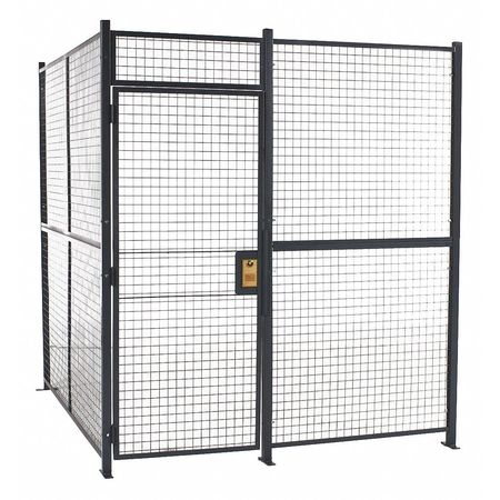 Wirecrafters Woven Partition Cage, 16 ft. 6inW, 4 Sided 161684