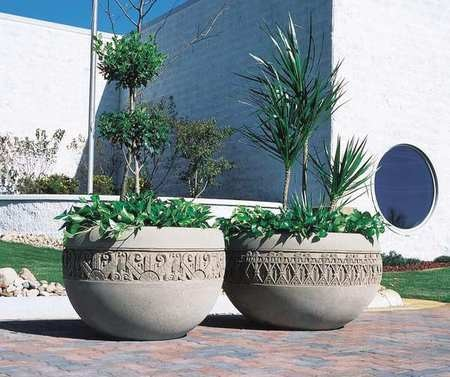 Wausau Tile Planter, Round, 48in.Lx48in.Wx35in.H TF4229W22