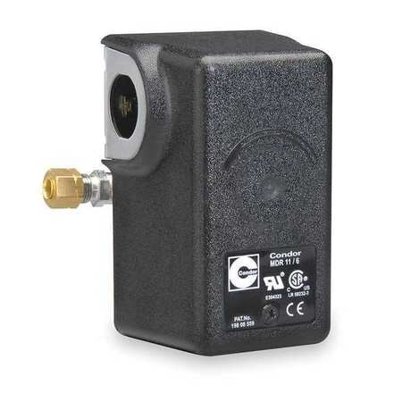 Condor Usa, Inc Pressure Switch,  (1) Port,  1/4 in FNPT,  DPST,  50 to 200 psi,  Standard Action 11WAXE
