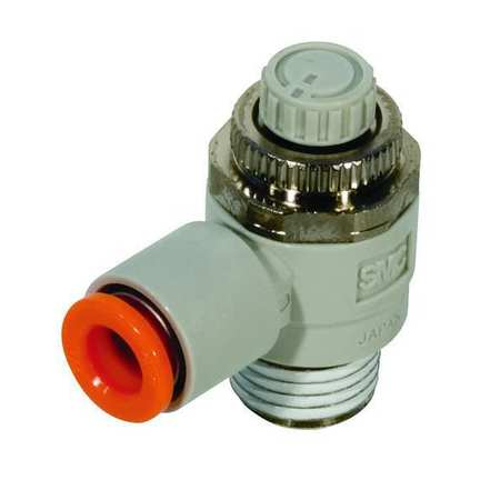 Smc Speed Control Valve, 10mm Tube, 1/2 In AS4201F-04-10S