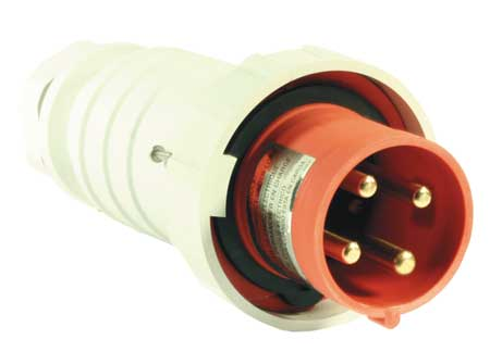 hubbell wiring device-kellems pin and sleeve plug, 3p, 4w, 20a, 480v  c420p7w | zoro com