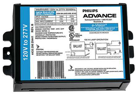 IMH-100-D-BLS Philips Advance MH HID 100W Electronic Ballast 120-277V NEW