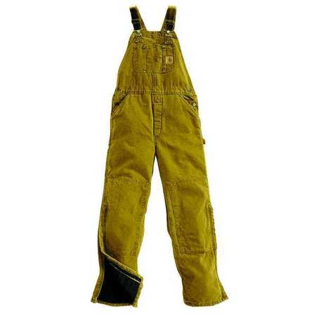 low price sale pre order double coupon Bib Overalls, Brown, Size 42x30 In
