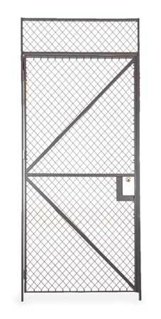 Folding Guard Wire Partition Hinged Door, 4 ft x 10 ft HS7 410R CYL