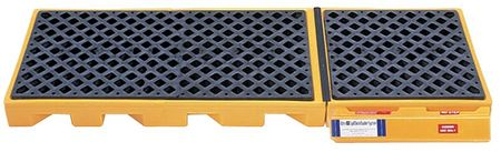 Ultratech Drum Spill Containment Pallet,  99 gal Spill Capacity,  3 Drum,  4500 lb,  Polyethylene 2360