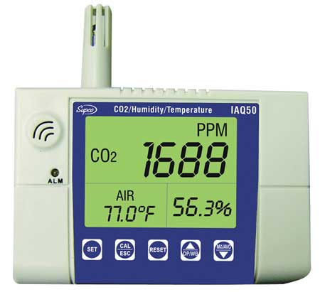 Indoor Air Quality Monitor, Wall Mounted
