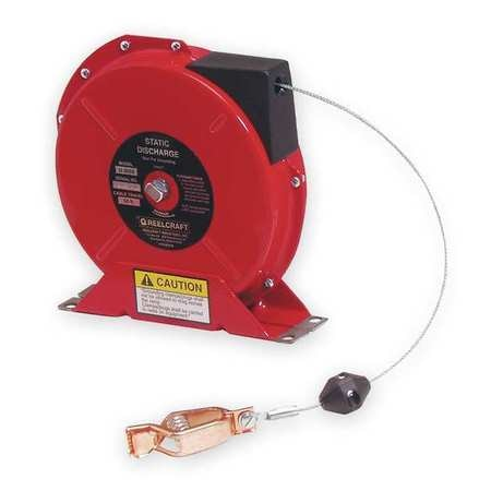 Reelcraft Cable Reel, 50 ft, Spring Return, Red G 3050