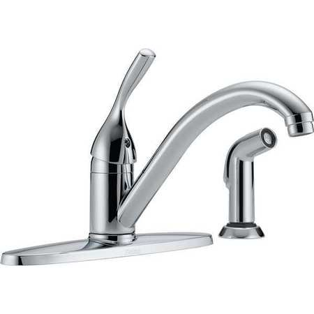 Delta Manual 8 Mount 3 Hole Low Arc Kitchen Faucet 400 Dst