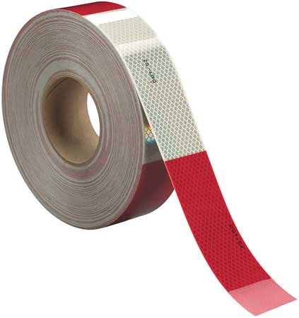 3M Conspicuity, Cut, 2 In, Red/White, Truck 983-326 ES