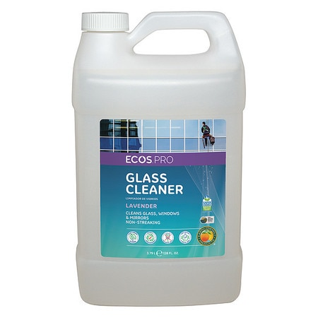 Ecos Pro Liquid Glass and Surface Cleaner,  1 gal.,  Clear,  Lavender,  Jug PL9301/04