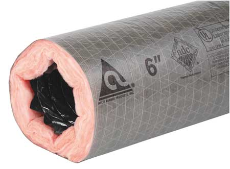 """Atco Insulated Flexible Duct, 8"""" Dia. 17802508"""