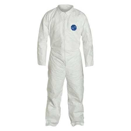 Dupont Collared Disposable Coveralls ,  2XL ,  White ,  Tyvek(R) 400 ,  zipper TY120SWH2X002500
