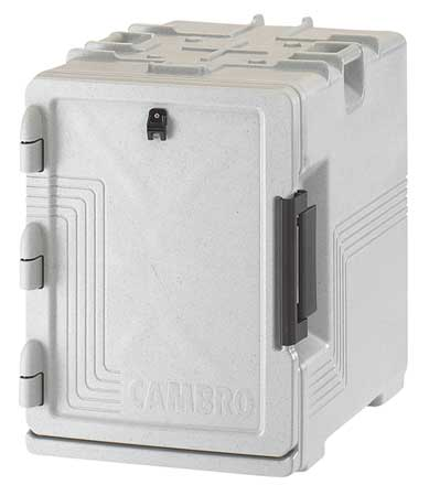 """Camcarrier® UPCS Capacity 4 Full Size 4"""" Deep Pans Speckled Gray"""