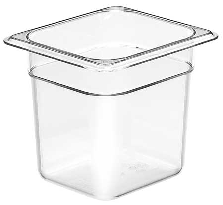 Food Pan,  Sixth Size,  Clear, PK6