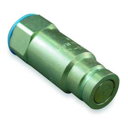 """Safeway Hydraulics Hydraulic Quick Connect Hose Coupling,  Steel Body,  Push-to-Connect Lock,  3/8""""-18 Thread Size FF491-3"""
