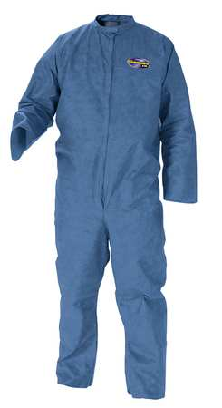 Kimberly-Clark Disposable Coveralls,  M,  24 PK,  Blue,  SMS,  Zip 58532