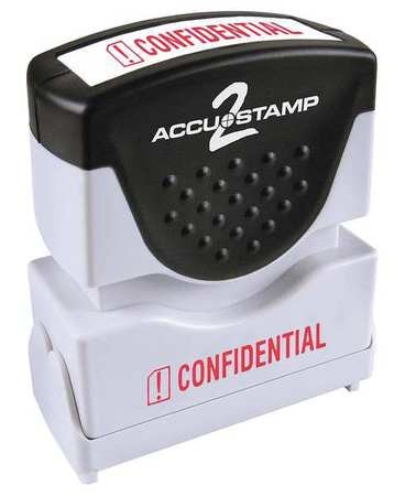 """Accustamp 2 Microban Message Stamp, Confidential, 3/8"""" 038839"""