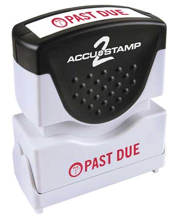 """Accustamp 2 Microban Message Stamp,  Past Due,  1/4"""" 038836"""