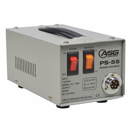 Asg Screwdriver Power Supply, 110 to 240VAC PS-55