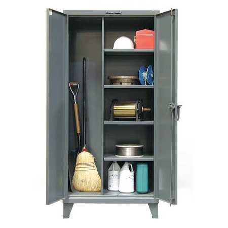 """Strong Hold 12 ga. Steel Storage Cabinet,  72"""" W,  78"""" H,  Janitorial,  Stationary 66-BC-244"""