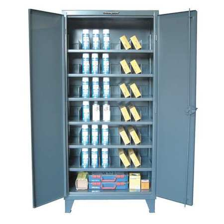 """Strong Hold 12 ga. Steel Storage Cabinet,  60"""" W,  78"""" H,  Shelving,  Stationary 56-246PH-42VD"""