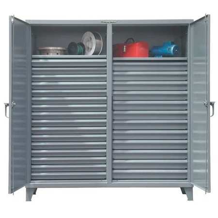 """Strong Hold 12 ga. Steel Storage Cabinet,  72"""" W,  78"""" H,  Combination Drawer,  Stationary 66-DS-242-28DB"""